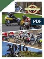 AHRMA 2016 Rules Handbook