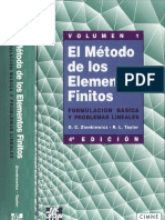 Zienkiewicz -Taylor -El Metodo De Elementos Finitos español Vol 1