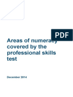 Areas of Numeracy