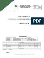 Fiansa-poc-11 Procedimiento Control de Equipos de Medicion y Ensayos