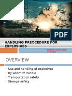 Handling Techniq for Explosive