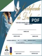 Certificado de Dedicacion de Niños