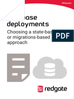 Database Deployments Choosing State Based Migrations Based Approach