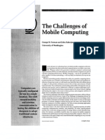 The Challenges of Mobile Computing