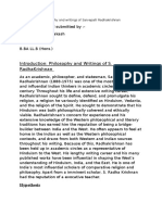 Philosophy and Writings of Sarvepalli Radhakrishnan