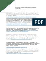 Referenciacion de Investigaciones Recientes en El Contexto Colombiano Relacionadas Al Proceso Del Sueño