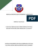 Kertas Kerja Pertandingan Futsal Peringkat Sekolah