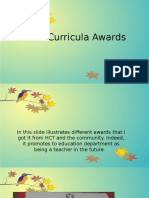extra curricula awards