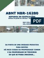NBR 16280 Palestra