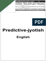 Predictive Jyotish Astrology by M N Kedaar