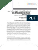 Modelo Predictivo Del Grado de Discapacidad en Adultos Con Lesión Medular