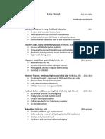 shedd resume pdf