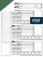 DnD 5E Encounter Sheet Combat Tracker