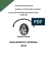 Reglamento Interno Huaracpampa 2015