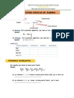 Ficha de trabajo para primaria de Algebra