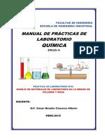 Informe Quimica - Volumen y masa