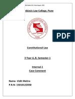 Case Comment- Indira Gandhi v. Raj Narai (1)