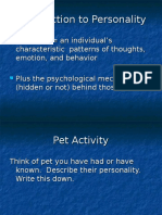 Intro to Personality Psych