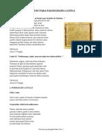 Textos para paelografía latina
