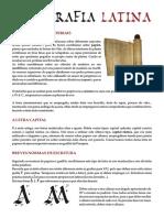 Plantilla para escritura latina