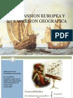 La Expansion Europea y Su Expresion Geografica