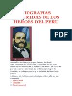 Resumen de Historio de Los Heroes Del Peru