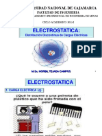 Electrostatica.- Distribucion Discontinua de Carga Electrica 2015-I (1)