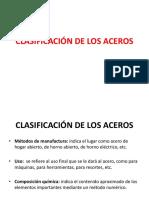 Clasificación de Los Aceros 2015b