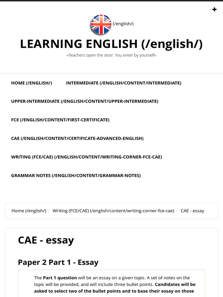 cae  essay  learning english  essays  clothing
