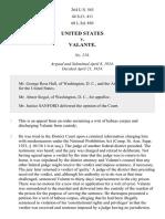 United States v. Valante, 264 U.S. 563 (1924)