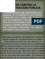 Delitos Contra La Administracion Pública