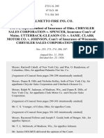 Palmetto Fire Ins. Co. v. Conn, 272 U.S. 295 (1926)