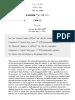 Empire Trust Co. v. Cahan, 274 U.S. 473 (1927)