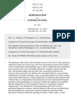 Kornhauser v. United States, 276 U.S. 145 (1928)