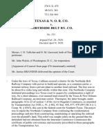 TEXAS & C. RR v. Northside Ry., 276 U.S. 475 (1928)