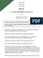 Miguel v. McCarl, 291 U.S. 442 (1934)