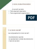 Analyse Littéraire 1- Texte Narratif