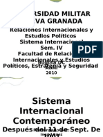 Sistema Internacional contemporaneo