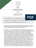 Ray v. United States, 301 U.S. 158 (1937)