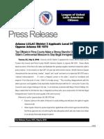 Press Release - LULAC District 3 SB1070