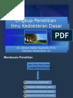 Dr Zainuri_Lingkup Penelitian Ilmu Kedokteran Dasar