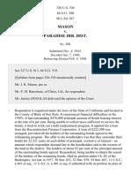 Mason v. Paradise District, 326 U.S. 536 (1946)