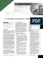 Las Jornadas Acumulativas y Atípicas de Trabajo (Parte 1)