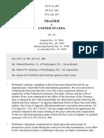 Frazier v. United States, 335 U.S. 497 (1949)