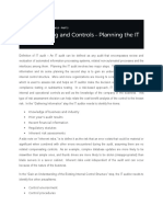 Part 3 - Planning the IT Audit