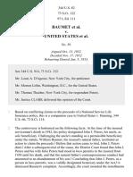 Baumet v. United States, 344 U.S. 82 (1953)