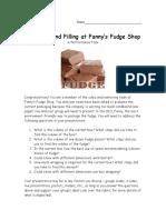 fudge performance task