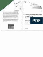 Anijovich- Transitar La Formación Pedagógica