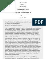Grant Oden v. G. Clyde Brittain, 396 U.S. 1210 (1969)