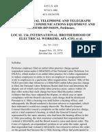 International Telephone & Telegraph Corp. v. Electrical Workers, 419 U.S. 428 (1975)